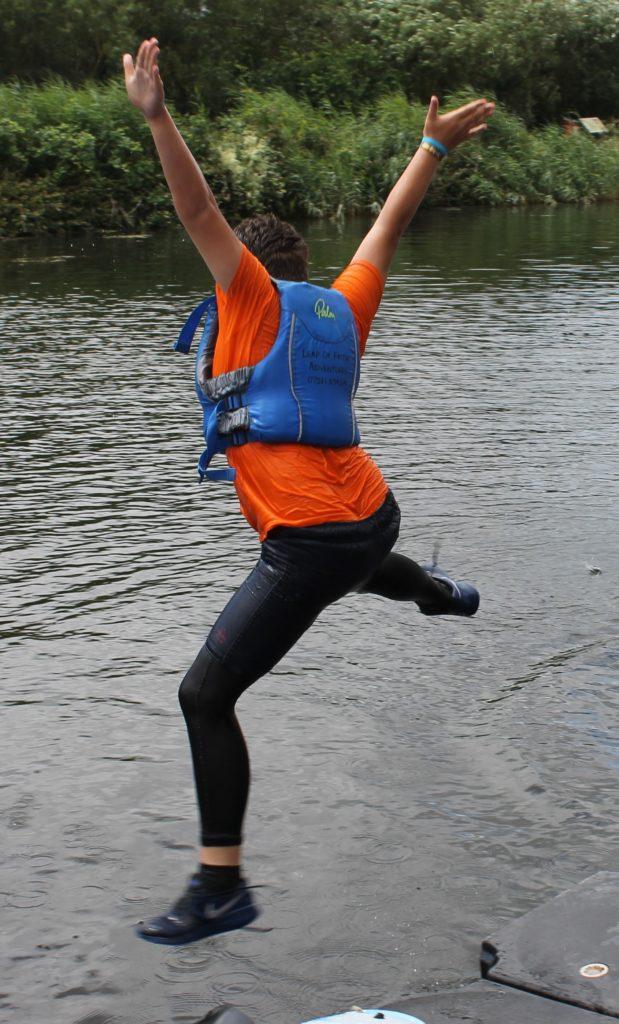 Barley Lane School - child jumping into water