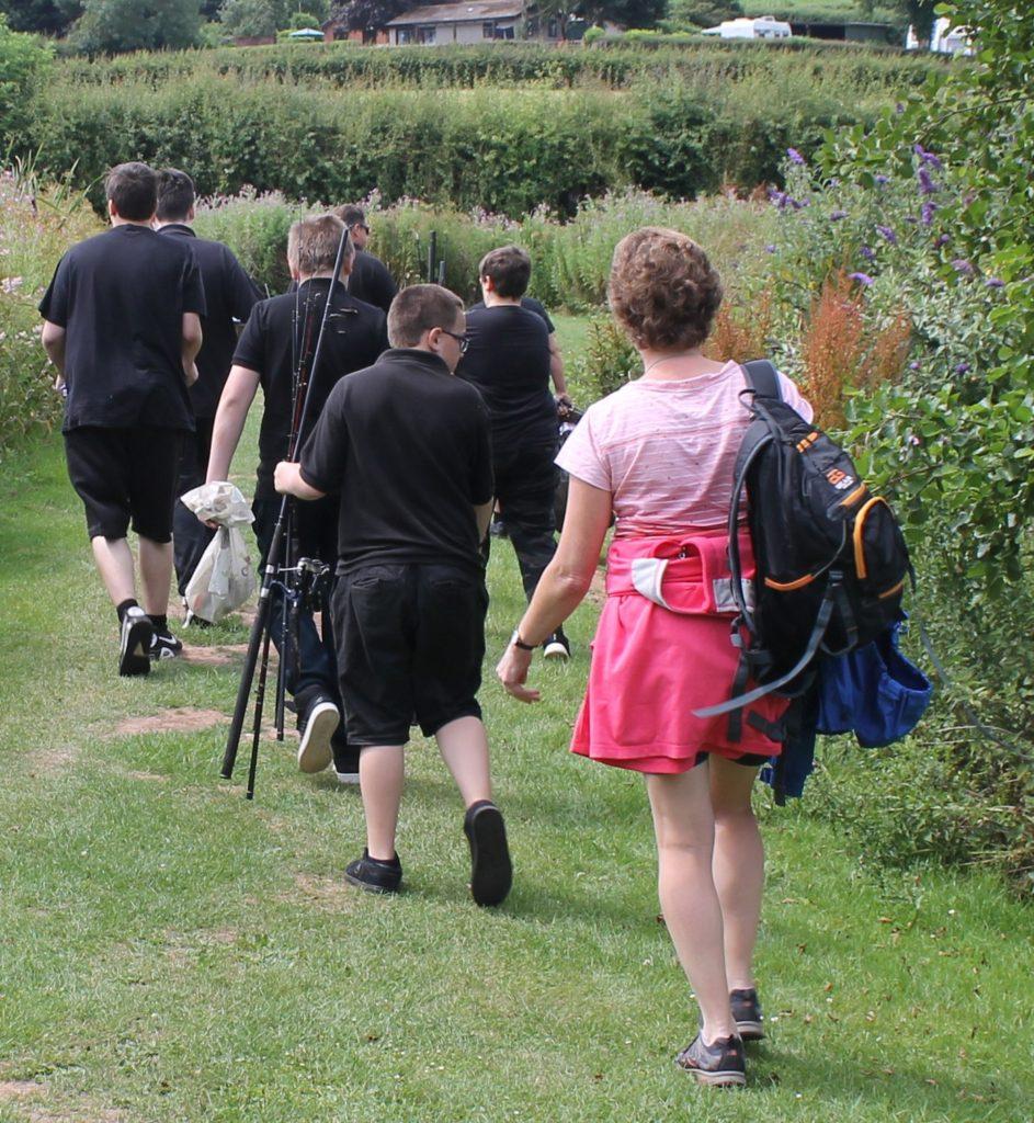 Barley Lane School - children walking in field